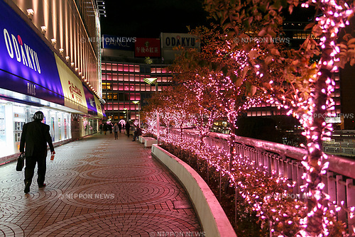 Illuminations at Shinjuku Terrace City on November 16, 2017, Tokyo, Japan. Shinjuku Terrace City Illuminations are seen around Odakyu Line Shinjuku Station. This year marks the 12th year of the illumination event, which can be enjoyed until February 22, 2018. (Photo by Rodrigo Reyes Marin/AFLO)