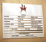Lobby cast board during the Broadway Opening Night performance Curtain Call for 'M. Butterfly' on October 26, 2017 at Cort Theater in New York City.
