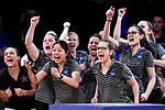 CLAYTON, MO - APRIL 14: Vanderbilt University bowlers react to a strike during the Division I Women's Bowling Championship held at Tropicana Lanes on April 14, 2018 in Clayton, Missouri. Vanderbilt University defeated McKendree University 4-3. (Photo by Tim Nwachukwu/NCAA Photos via Getty Images)