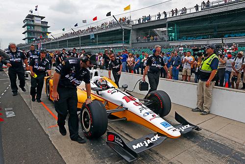 Verizon IndyCar Series<br /> Indianapolis 500 Qualifying<br /> Indianapolis Motor Speedway, Indianapolis, IN USA<br /> Saturday 20 May 2017<br /> Oriol Servia, Rahal Letterman Lanigan Racing Honda<br /> World Copyright: Phillip Abbott<br /> LAT Images<br /> ref: Digital Image abbott_IndyQ-0517_19603