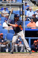 Houston Astros outfielder Jake Marisnick (6) during a Spring Training game against the Toronto Blue Jays on March 9, 2015 at Florida Auto Exchange Stadium in Dunedin, Florida.  Houston defeated Toronto 1-0.  (Mike Janes/Four Seam Images)
