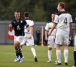 Gavin Rae celebrates after hitting goal no 4 for Dundee