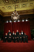 """Washington, DC - September 29, 2009 -- The Justices of the United States Supreme Court posed for their official """"family """" group photo and then allowed members of the media to take photos afterwards at the U.S. Supreme Court in Washington, D.C. on Tuesday, September 29, 2009. Front row, left to right: Associate Justice Anthony M. Kennedy; Associate Justice John Paul Stevens; Chief Justice of the United States John G. Roberts, Jr.; Associate Justice Antonin Scalia; and Associate Justice Clarence Thomas.  Back row, left to right: Associate Justice Samuel A. Alito, Jr.; Associate Justice Ruth Bader Ginsburg; Associate Justice Stephen G. Breyer; and Associate Justice Sonia Sotomayor..Credit: Gary Fabiano / Pool via CNP"""