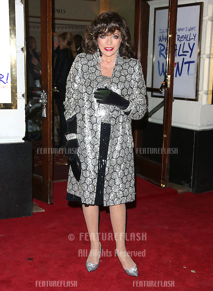 Joan Collins arriving for VIVA Forever Spice Girls the Musical held at the Piccadilly Theatre. 11/12/2012 Picture by: Henry Harris / Featureflash