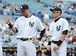 (L-R) Derek Jeter, Ichiro Suzuki (Yankees),<br /> FEBRUARY 27, 2014 - MLB :<br /> New York Yankees' Derek Jeter and Ichiro Suzuki during a spring training baseball game against the Pittsburgh Pirates at George M. Steinbrenner Field in Tampa, Florida, United States. (Photo by AFLO)