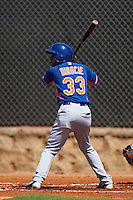 GCL Mets right fielder Anthony Dirocie (33) at bat during the first game of a doubleheader against the GCL Astros on August 5, 2016 at Osceola County Stadium Complex in Kissimmee, Florida.  GCL Astros defeated the GCL Mets 4-1 in the continuation of a game started on July 21st and postponed due to inclement weather.  (Mike Janes/Four Seam Images)