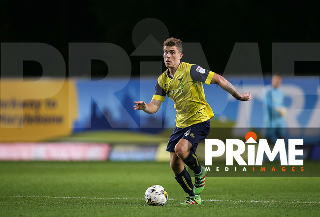 Josh Ruffels of Oxford United during the The Checkatrade Trophy match between Oxford United and Exeter City at the Kassam Stadium, Oxford, England on 30 August 2016. Photo by Andy Rowland / PRiME Media Images.