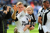 Matt Ritchie of Newcastle United and his daughter during the lap of appreciation during Newcastle United vs Chelsea, Premier League Football at St. James' Park on 13th May 2018