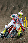 Italian Antonio Cairoli rides during the  MXGP World Championship Motocross at Pietramurata, Italy on April 13, 2014.