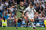Cristiano Ronaldo of Real Madrid battles for the ball with Adam Hlousek of Legia Warszawa during the 2016-17 UEFA Champions League match between Real Madrid and Legia Warszawa at the Santiago Bernabeu Stadium on 18 October 2016 in Madrid, Spain. Photo by Diego Gonzalez Souto / Power Sport Images
