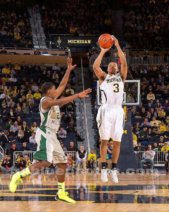 The University of Michigan men's basketball team beat Eastern Michigan, 93-54, at Crisler Center in Ann Arbor, Mich., on December 21, 2012.