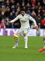 Pictured: Kyle Naughton of Swansea Sunday 01 February 2015<br /> Re: Premier League Southampton v Swansea City FC at ST Mary's Ground, Southampton, UK.