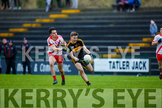 Mike Milner Dr Crokes goes past 5 Gaelteacht during their County League Div 1 final in Lewis Rd on Sunday