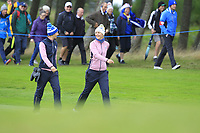 Anne Van Dam and Anna Nordqvist of Team Europe on the 7th fairway during Day 2 Foursomes at the Solheim Cup 2019, Gleneagles Golf CLub, Auchterarder, Perthshire, Scotland. 14/09/2019.<br /> Picture Thos Caffrey / Golffile.ie<br /> <br /> All photo usage must carry mandatory copyright credit (© Golffile | Thos Caffrey)