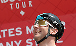 Elia Viviani (ITA) Team Sky at sign on before the start of Stage 1 Emirates Motor Company Stage of the 2017 Abu Dhabi Tour, running 189km from Madinat Zayed through the desert and back to Madinat Zayed, Abu Dhabi. 23rd February 2017<br /> Picture: ANSA/Matteo Bazzi | Newsfile<br /> <br /> <br /> All photos usage must carry mandatory copyright credit (&copy; Newsfile | ANSA)