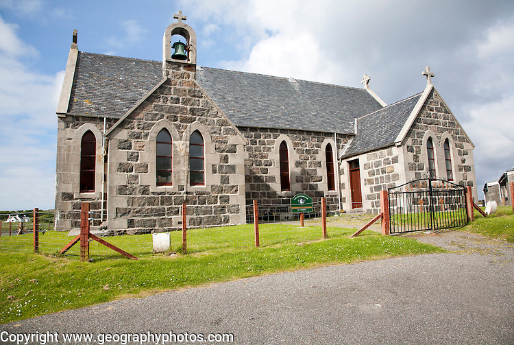 Roman Catholic church at Northbay,, Isle of Barra, Outer Hebrides, Scotland, UK