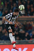 Alvaro Morata during the Italian Serie A soccer match between   AS Roma and Juventus FC       at Olympic Stadium      in Rome ,March 02 , 2015