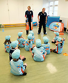 This image is free to use - A brand new coaching programme aims to turn cricket into one of Scotland's mainstream sports. Launched this week, All Stars Cricket aims to inspire five to eight year old children to take up the sport through a fun first experience of the game. The Cricket Scotland eight week programme begins in May and will see participating boys and girls develop their skills and make new friends in a safe and inclusive environment at one of the 50+ Scottish cricket clubs who have signed up to host and run the sessions. Registration is open from today with each child receiving a pack of cricket goodies including a cricket bat, ball, backpack, water bottle, personalised shirt and cap to keep so that they can continue their love of cricket when they go home. There will also be a chance for youngsters to meet current Scotland international players as part of All Stars Cricket, which will be led by fully trained and vetted activators at each club - picture shows — for further information please contact Ben Fox, Media Manager, Cricket Scotland on 07825 172 348 or at benfox@cricketscotland.com -- picture by Donald MacLeod - 20.03.2017 - 07702 319 738 - clanmacleod@btinternet.com - www.donald-macleod.com