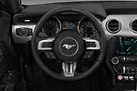 Car pictures of steering wheel view of a 2018 Ford Mustang EcoBoost 2 Door Convertible