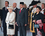 """STATE VISIT BY THE PRESIDENT OF THE REPUBLIC OF INDONESIA .AND MRS YUDHOYONO.receive a Ceremonial Welcome on Horse Guards Parade, where The Queen, accompanied by The Duke of Edinburgh, formally greeted them. .The President of the Republic of Indonesia, Dr Susilo Bambang Yudhoyono, accompanied by The Duke of Edinburgh, then reviewed a Guard of Honour_London_31/10/2012.Mandatory Credit Photo: ©A Harlen/NEWSPIX INTERNATIONAL..**ALL FEES PAYABLE TO: """"NEWSPIX INTERNATIONAL""""**..IMMEDIATE CONFIRMATION OF USAGE REQUIRED:.Newspix International, 31 Chinnery Hill, Bishop's Stortford, ENGLAND CM23 3PS.Tel:+441279 324672  ; Fax: +441279656877.Mobile:  07775681153.e-mail: info@newspixinternational.co.uk"""