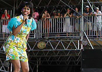 Santigold at the 2012 Bonnaroo Music Festival in Manchester, Tennessee. June 9, 2012. Credit: Jen Maler / MediaPunch Inc. NORTEPHOTO.COM<br /> NORTEPHOTO.COM