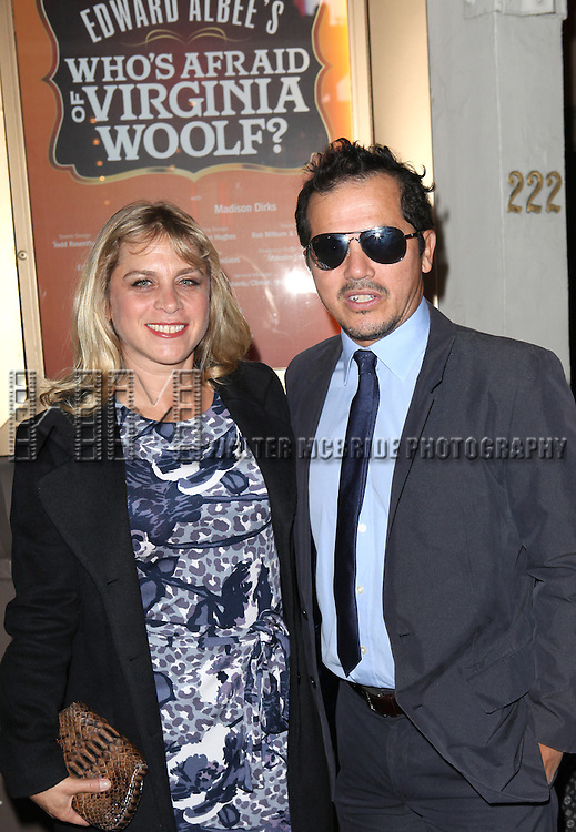 John Leguizamo and Justine Maurer attending the Opening Night Performance of Edward Albee's 'Who's Afraid of Virginia Woolf?' at the Booth Theatre on October 13, 2012 in New York City.