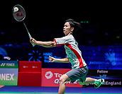 17th March 2018, Arena Birmingham, Birmingham, England; Yonex All England Open Badminton Championships; Yuta Watanabe (JPN) and Arisa Higashino (JPN) in their semi-final match against Zhang Nan (CHN) and Li Yinhui (CHN)