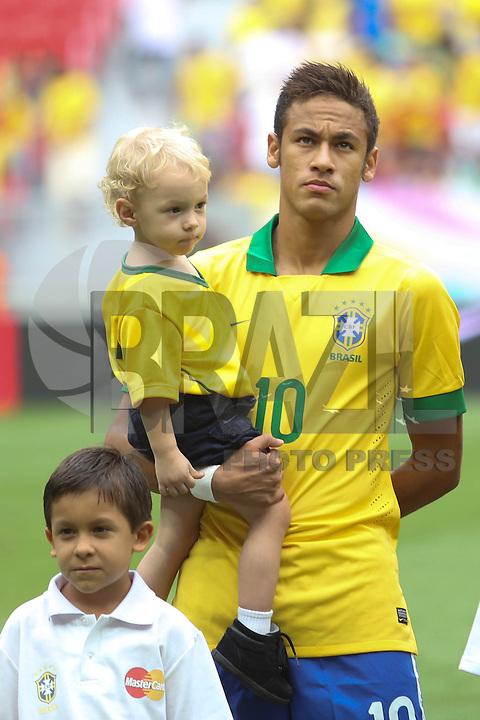BRASILIA, DF, 07.09.2013 - 07.09.2013 - BRASIL X AUSTRÁLIA/AMISTOSO: Neymar  durante partida amistosa entre Brasil x Austrália, no Estádio Nacional Mané Garrincha.(Foto: Vanessa Carvalho / Brazil Photo Press).