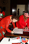 """Days of Our Lives' Louise Sorel """"Vivian Alamain"""" supports by doing a poster and  attending the vigil for Bring Back Our Girls - 500 Days on August 27, 2015 at Church Center for the United Nations followed by a vigil at the Nigeria House in New York City, New York (Photo by Sue Coflin/Max Photos)"""