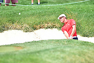 Bethesda, MD - July 2, 2017: Bryson DeChambeau hits a shot out of a bunker on hole seventeen during final round of professional play at the Quicken Loans National Tournament at TPC Potomac at Avenel Farm in Bethesda, MD.  (Photo by Phillip Peters/Media Images International)