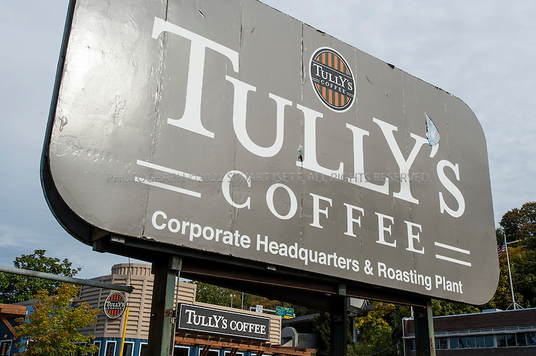 10/18/2012--Seattle, WA, USA..A Tully's Coffee Seattle headquarters, in the old Rainier Beer brewery, in Seattle, WASH...Tully's Coffee recently filed for Chapter 11, citing low cash reserves and a need to renegotiate leases with landlords...©2012 Stuart Isett. All rights reserved.