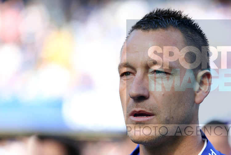 Chelsea's John Terry with tears in his eyes during the Premier League match at Stamford Bridge Stadium, London. Picture date: May 18th, 2017. Pic credit should read: David Klein/Sportimage