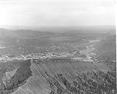 Elevated view of Durango from NW mountain.<br /> D&amp;RGW  Durango, CO