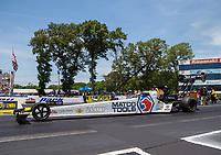 Jun 11, 2017; Englishtown , NJ, USA; NHRA top fuel driver Antron Brown during the Summernationals at Old Bridge Township Raceway Park. Mandatory Credit: Mark J. Rebilas-USA TODAY Sports