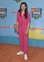 SANTA MONICA, CA - JULY 11: Kate Godfrey at Nickelodeon's Kids' Choice Sport 2019 at the Barker Hangar on July 11, 2019 in Santa Monica, California. (Photo by Scott KirklandPictureGroup)