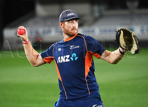 20th March 2018, Eden Park, Auckland, New Zealand;  Martin Guptill.<br /> New Zealand Blackcaps twilight training session ahead of the 1st day/night test match against England
