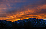 Sierra sunset in Gardnerville, Nev., on Tuesday, Dec. 31, 2019. <br />Photo by Cathleen Allison Photography