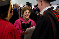 MIT faculty members gather in their academic robes before the start of MIT Commencement on June 8, 2012, in Cambridge, Massachusetts, USA...Photo by M. Scott Brauer