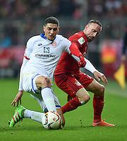 FUSSBALL  1. BUNDESLIGA  SAISON 2015/2016  24. SPIELTAG FC Bayern Muenchen - 1. FSV Mainz 05       02.03.2016 Leon Balogun (li, 1. FSV Mainz 05) gegen Franck Ribery (re, FC Bayern Muenchen)