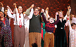 Caroline O'Connor, John Bolton, Dan Lauria, Johnny Rabe, Erin Dilly & Zac Ballard during the Broadway Opening Night Performance Curtain Call for 'A Christmas Story - The Musical'  at the Lunt Fontanne Theatre in New York City on 11/19/2012.