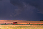 Prairie storm, Twin Buttes region, Alberta, Canada