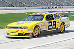 Derek White (28) in action during the NASCAR Nationwide Series qualifying at Texas Motor Speedway in Fort Worth,Texas.