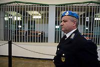 Roma, 19 Novembre 2015<br /> le sbarre delle celle.<br /> Aula bunker di Rebibbia<br /> Terza udienza del processo Mafia Capitale, Roma Capitale, avvocati,