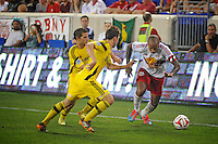 HARRISON, NJ - Saturday July 12, 2014: The New York Red Bulls defeated the Columbus Crew at Red Bull Arena in regular season MLS play 4-1.