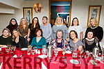 Staff of the Bons Secour Hospital (Admissions, Reception and Bookings) enjoying their Christmas party in Cassidys on Saturday night.<br /> Seated l-r, Trish Hannon, Sharon Spring, Geraldine Conlon, Ann Walsh, Louise Foley and Hannah Caffrey.<br /> Back l-r, Diane Bambury, Olga Enright, Martina Fernane, Norann O&rsquo;Connell, Caroline Allan, Cathy Francis and Emily Carey.