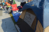 "October 6, 2011  (Washington, DC)   Hundreds of people participating in ""Occupy DC"" lived in tents and make-shift boxes on Freedom Plaza in Washington. ""Occupy DC"" is a movement that has spread from New York City's ""Occupy Wall Street""    (Photo by Don Baxter/Media Images International)"
