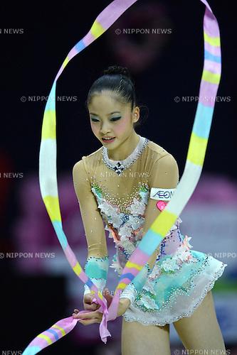 Kaho Minagawa (JPN), .SEPTEMBER 30, 2012 - Rhythmic Gymnastics : AEON CUP 2012 Worldwide R.G. Club Championships at 1st Yoyogi Gymnasium, Tokyo, Japan. (Photo by Jun Tsukida/AFLO SPORT) [0003]