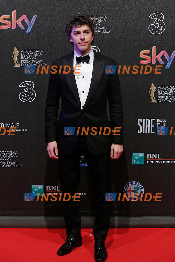 Michele Riondino <br /> Roma 27-03-2017. Premio David di Donatello 2017.<br /> Rome March 27th 2017. David di Donatello ceremony 2017. <br /> Foto Samantha Zucchi Insidefoto