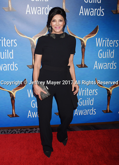 BEVERLY HILLS, CA - FEBRUARY 19: Actress Shohreh Aghdashloo attends the 2017 Writers Guild Awards L.A. Ceremony at The Beverly Hilton Hotel on February 19, 2017 in Beverly Hills, California.