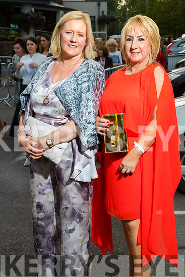 Marie Rael and Noreen Everett (Tralee) at the Rose of Tralee fashion show at the dome on Sunday night.
